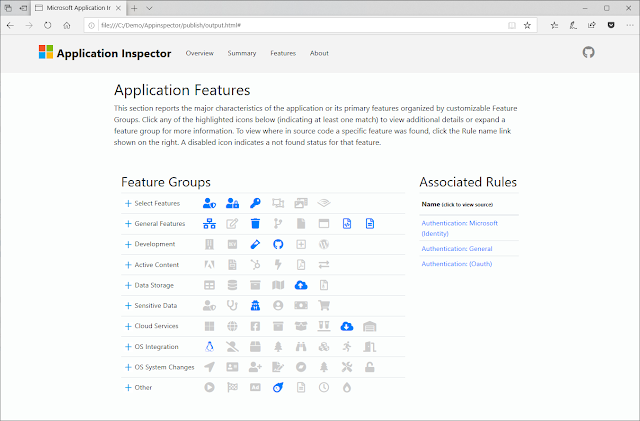 ApplicationInspector – A Source Code Analyzer Built For Surfacing Features Of Interest And Other Characteristics To Answer The Question 'What'S In It' Using Static Analysis With A Json Based Rules Engine