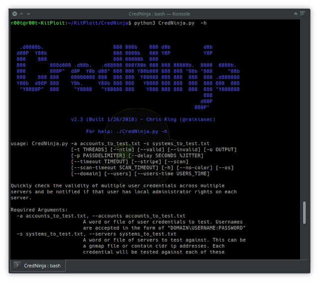 CredNinja - A Multithreaded Tool Designed To Identify If Credentials Are Valid, Invalid, Or Local Admin Valid Credentials Within A Network At-Scale Via SMB, Plus Now With A User Hunter