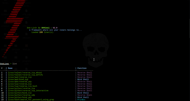 One-Lin3r v2.1 – Gives You One-Liners That Aids In Penetration Testing Operations, Privilege Escalation And More
