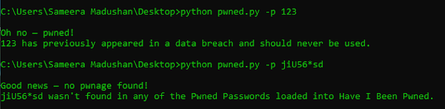 Pwned - Simple CLI Script To Check If You Have A Password That Has Been Compromised In A Data Breach