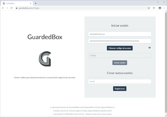 Guardedbox - Online Client-Side Manager For Secure Storage And Secrets Sharing