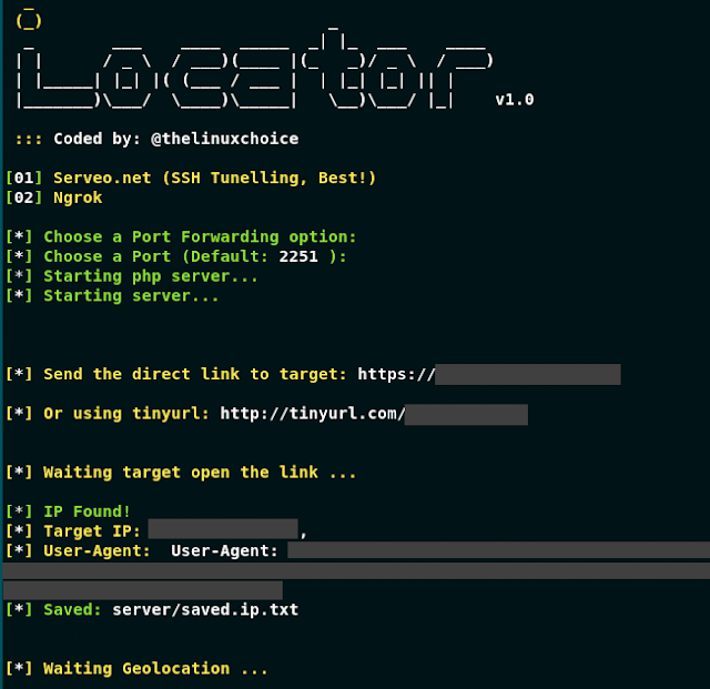 Locator – Geolocator, Ip Tracker, Device Info By URL (Serveo And Ngrok)