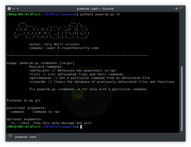 Powerob - An On-The-Fly Powershell Script Obfuscator Meant For Red Team Engagements