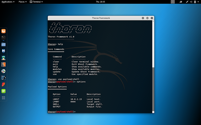 Thoron Framework - Tool To Generate Simple Payloads To Provide Linux TCP Attack