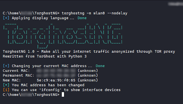 TorghostNG - Make All Your Internet Traffic Anonymized Through Tor Network