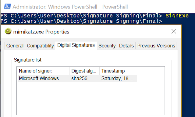 Digital Signature Hijack – Binaries, PowerShell Scripts And Information About Digital Signature Hijacking
