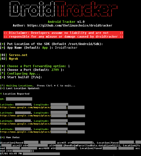 DroidTracker – Script To Generate An Android App To Track Location In Real Time