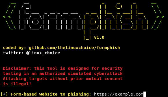 Formphish – Auto Phishing Form-Based Websites