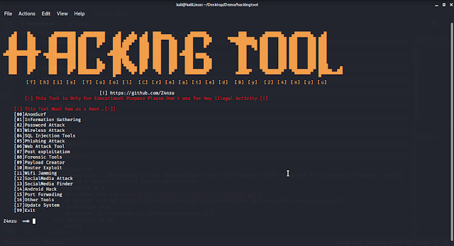 HackingTool – ALL IN ONE Hacking Tool For Hackers