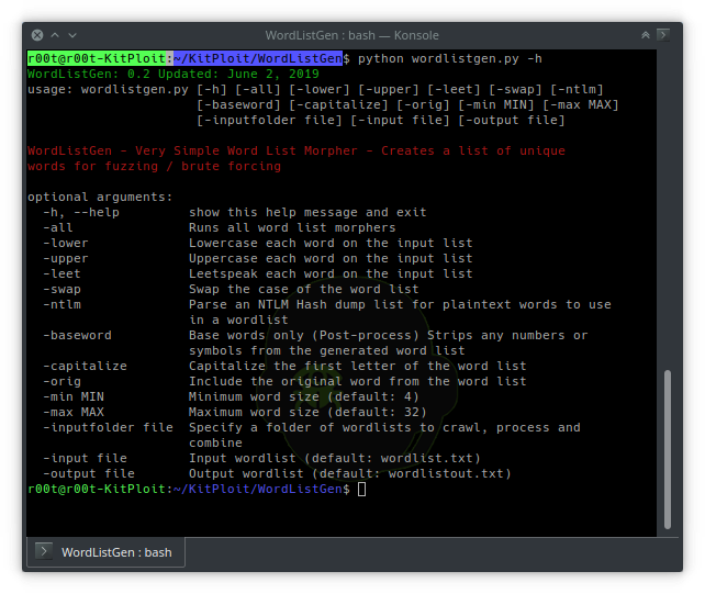 WordListGen – Super Simple Python Word List Generator For Fuzzing And Brute Forcing In Python