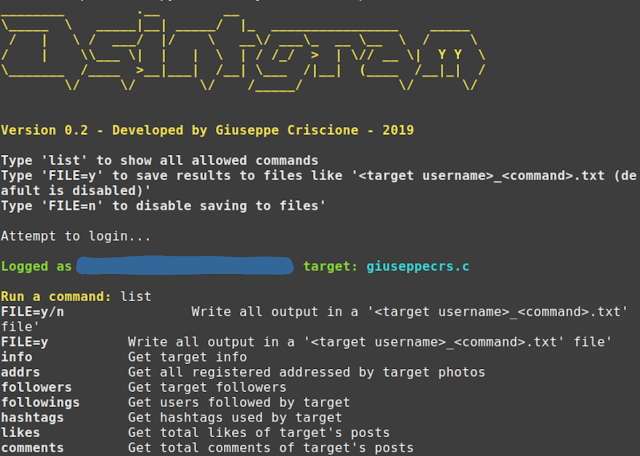 Osintgram - A OSINT Tool On Instagram