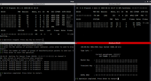 H4Rpy - Automated WPA/WPA2 PSK Attack Tool