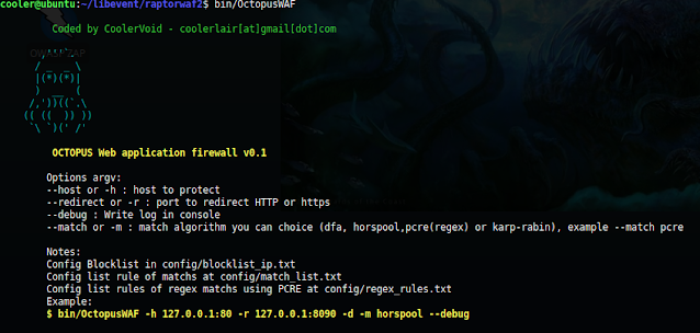 Octopus WAF – Web Application Firewall Made In C Language And Use Libevent