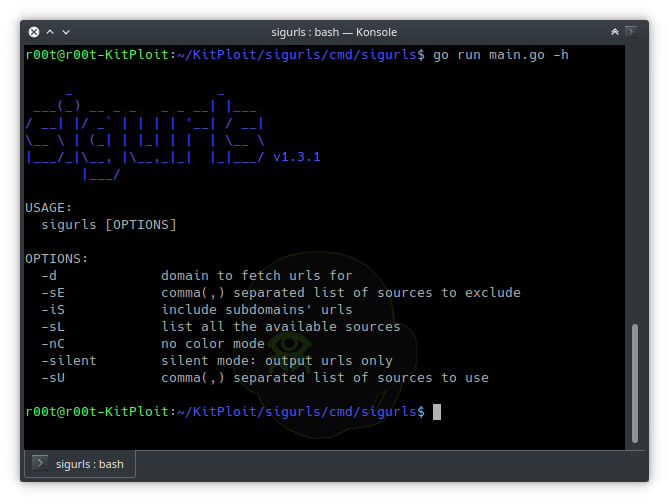 Sigurls - A Reconnaissance Tool, It Fetches URLs From AlienVault's OTX, Common Crawl, URLScan, Github And The Wayback Machine