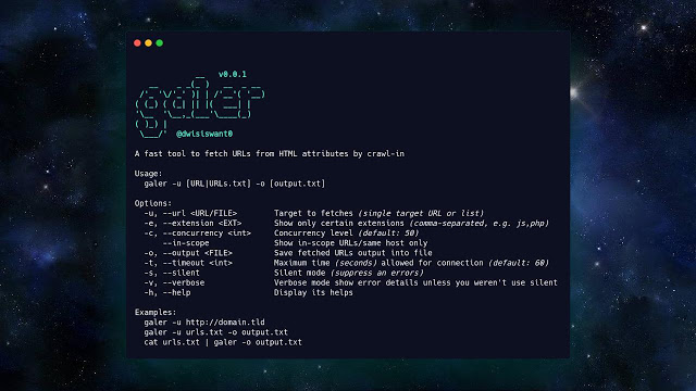 Galer – A Fast Tool To Fetch URLs From HTML Attributes By Crawl-In