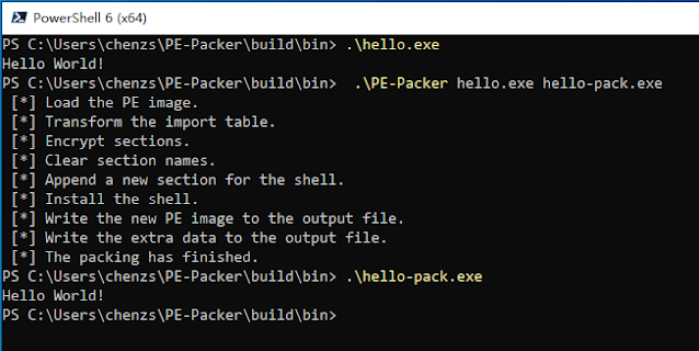 PE-Packer - A Simple Windows X86 PE File Packer Written In C And Microsoft Assembly