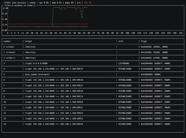 Uroboros - A GNU/Linux Monitoring And Profiling Tool Focused On Single Processes