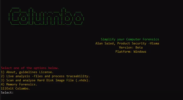 Columbo – A Computer Forensic Analysis Tool Used To Simplify And Identify Specific Patterns In Compromised Datasets