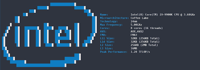 Cpufetch - Simplistic Yet Fancy CPU Architecture Fetching Tool