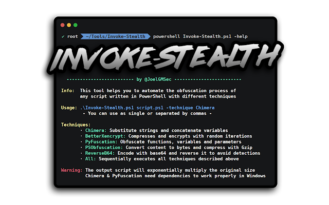 Invoke-Stealth – Simple And Powerful PowerShell Script Obfuscator