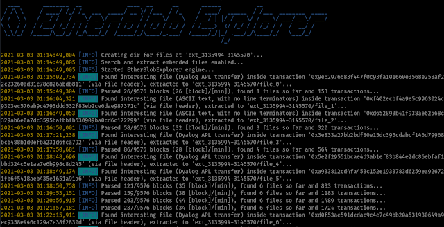 Etherblob-Explorer - Search And Extract Blob Files On The Ethereum Blockchain Network