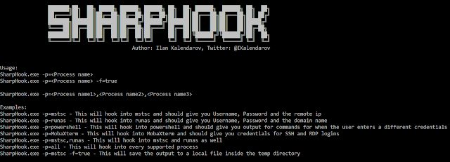 SharpHook - Tool Tath Uses Various API Hooks In Order To Give Us The Desired Credentials