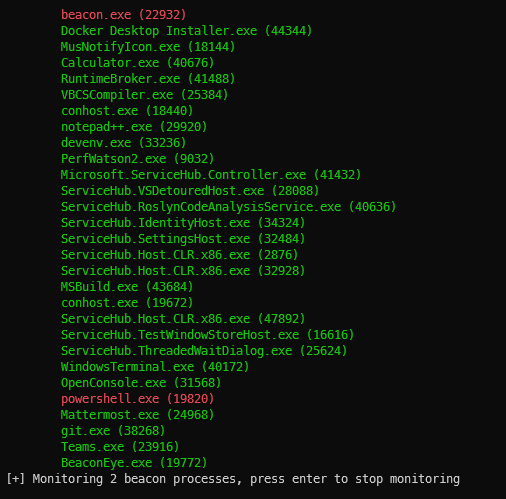 BeaconEye - Hunts Out CobaltStrike Beacons And Logs Operator Command Output