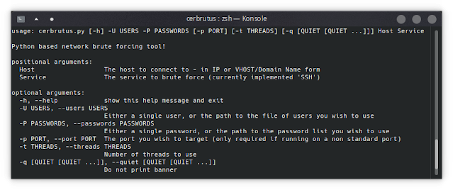 Cerbrutus – Network Brute Force Tool, Written In Python