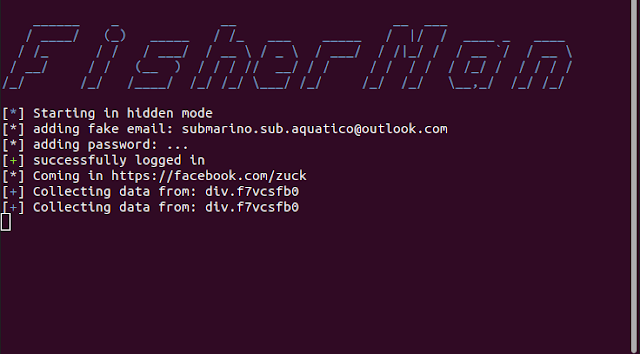 FisherMan - CLI Program That Collects Information From Facebook User Profiles Via Selenium