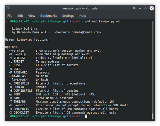 Keimpx – Check For Valid Credentials Across A Network Over SMB