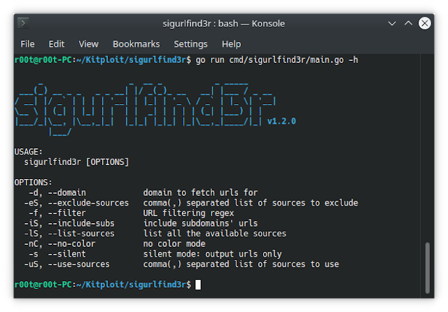 Sigurlfind3R – A Reconnaissance Tool, It Fetches URLs From AlienVault's OTX, Common Crawl, URLScan, Github And The Wayback Machine