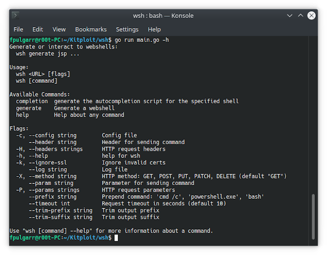 Wsh – Web Shell Generator And Command Line Interface
