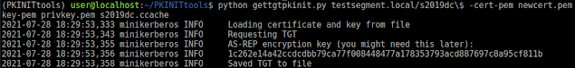 PKINITtools - Tools For Kerberos PKINIT And Relaying To AD CS