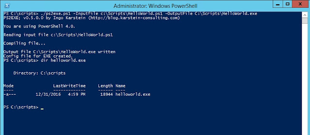 PS2EXE – Module To Compile Powershell Scripts To Executables