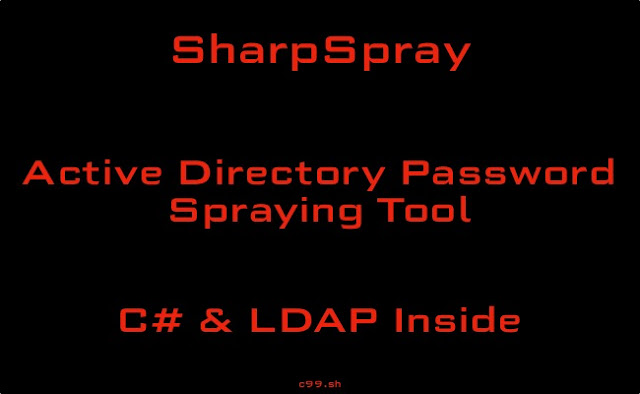 SharpSpray - Active Directory Password Spraying Tool. Auto Fetches User List And Avoids Potential Lockouts