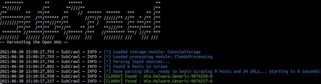 SubCrawl – A Modular Framework For Discovering Open Directories, Identifying Unique Content Through Signatures And Organizing The Data With Optional Output Modules, Such As MISP